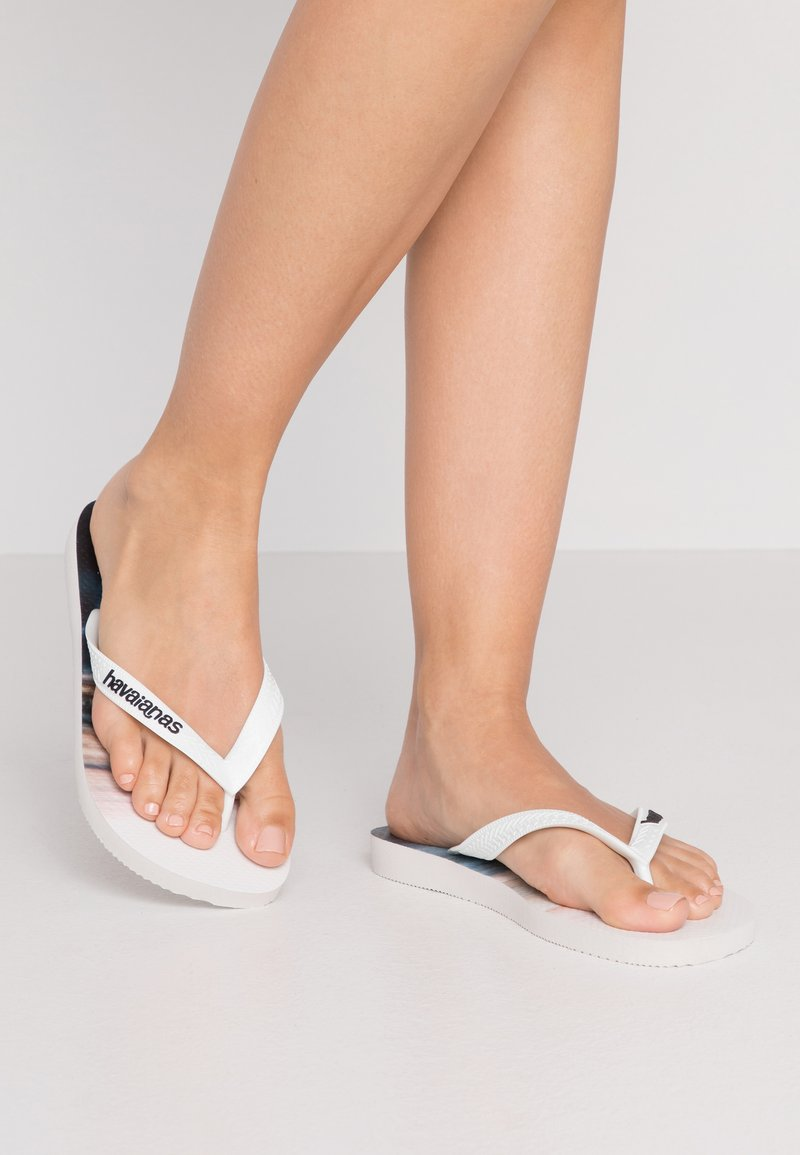 Havaianas - HYPE - Pool shoes - white/blue sky