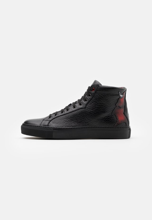 High-top trainers - nature black