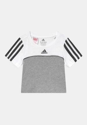 Printtipaita - medium grey heather/white/black