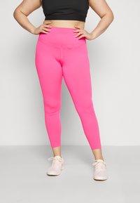 Nike Performance - ONE PLUS  - Leggings - hyper pink/white - 0
