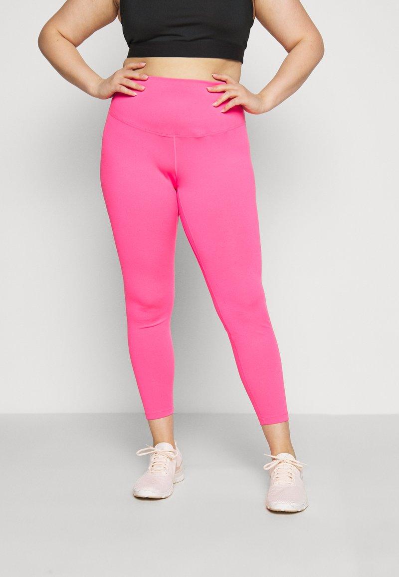 Nike Performance - ONE PLUS  - Leggings - hyper pink/white