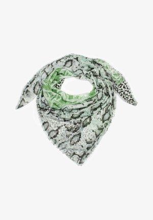 MIT LEOPARDEN - Foulard - grün-schwarz-weiß