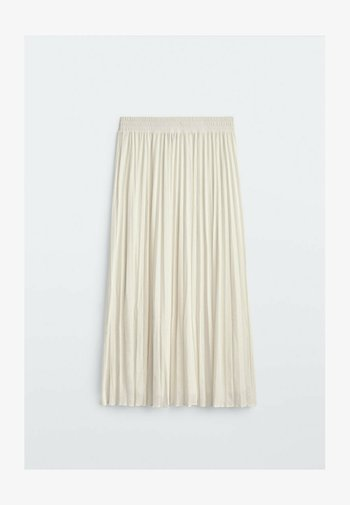 MIT STRETCHBUND  - A-line skirt - beige