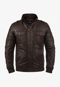 Solid - CAMASH - Leather jacket - brown - 5