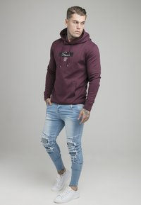 SIKSILK - OVERHEAD HOODIE - Top sdlouhým rukávem - burgundy - 1