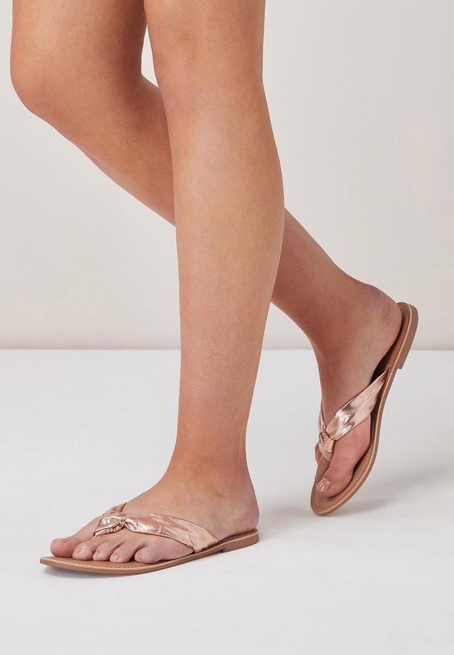 Sandalias de dedo - metallic grey