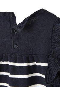Vertbaudet - Jumper dress - nachtblau/weiß gestreift - 3