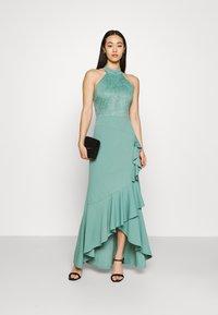 WAL G. - ZEKE FRILL MAXI DRESS - Sukienka z dżerseju - sage green - 1