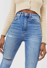 Stradivarius - Jeans Skinny Fit - blue denim - 3