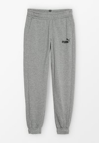 Puma - LOGO PANTS - Trainingsbroek - medium grey heather - 0