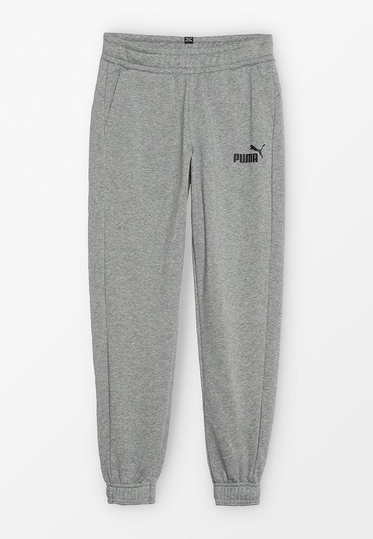 Puma - LOGO PANTS - Pantalon de survêtement - medium grey heather