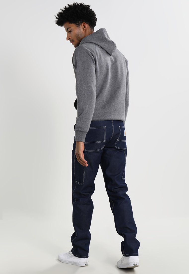 Suosittu Miesten vaatteet Sarja dfKJIUp97454sfGHYHD Carhartt WIP RUCK SINGLE KNEE PANT Straight leg -farkut blue rigid