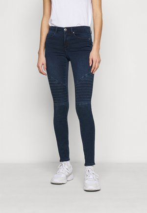 ONLROYAL LIFE BIKER - Jeans Skinny Fit - dark blue denim