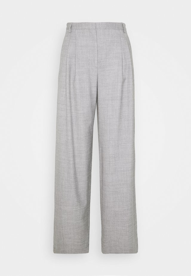 DALLAS PLEAT PANT - Trousers - light grey melange