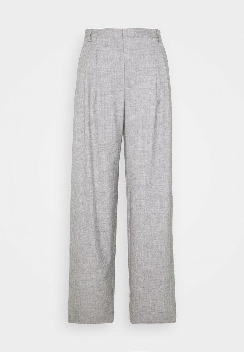 DESIGNERS REMIX - DALLAS PLEAT PANT - Trousers - light grey melange