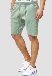 INDICODE JEANS - CARVER - Denim shorts - blue surf - 0