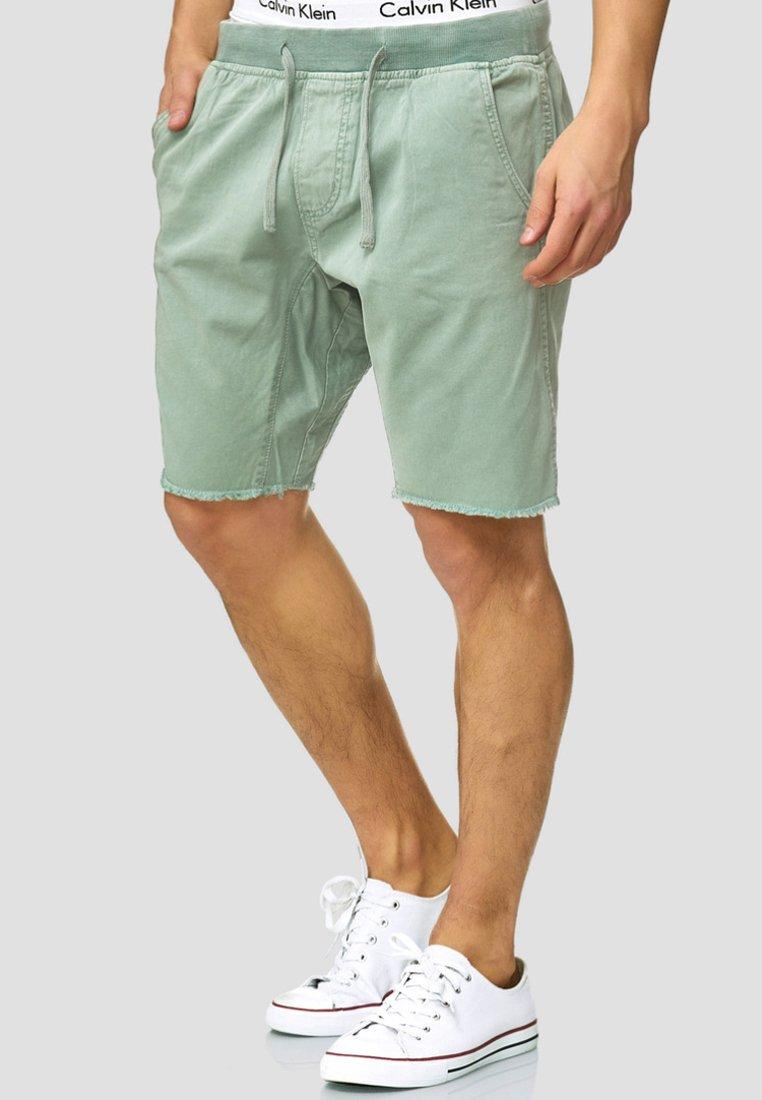 INDICODE JEANS - CARVER - Denim shorts - blue surf