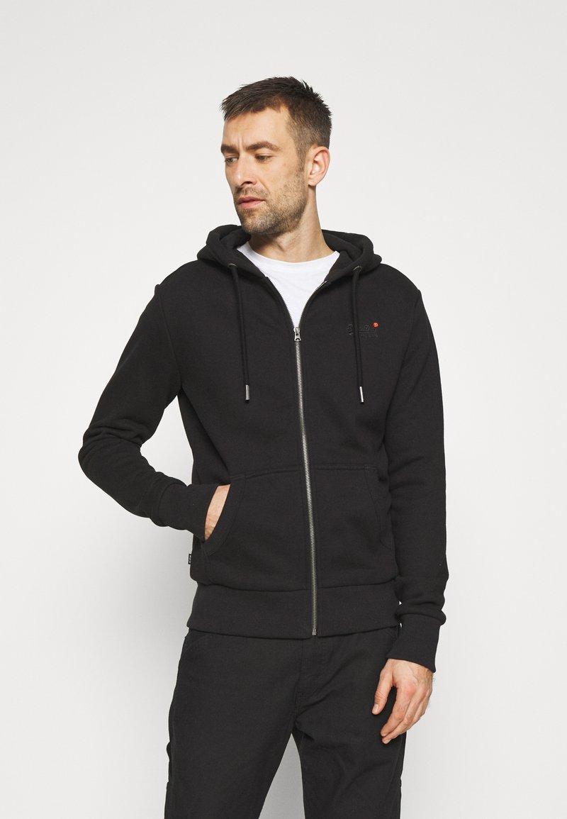 Superdry - CLASSIC ZIPHOOD - Sweater met rits - black
