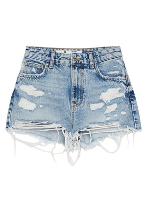 MIT RISSEN - Shorts di jeans - blue denim