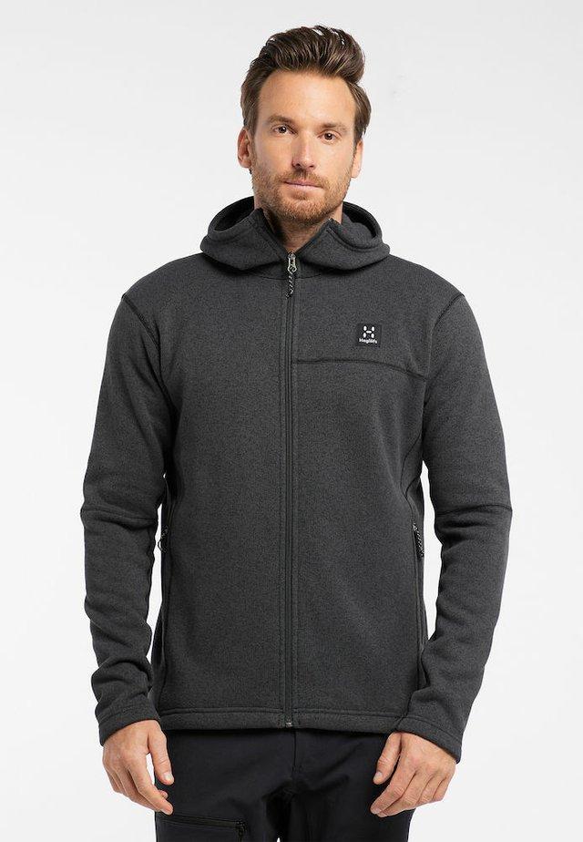 SWOOK HOOD - Fleece jacket - slate