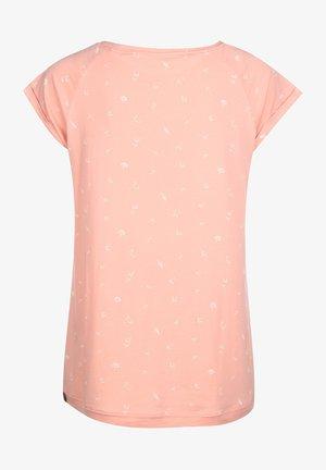 TOP ZILDA ORGANIC W - Print T-shirt - peach