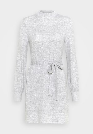 BELTED COZY DRESS - Jumper dress - gray