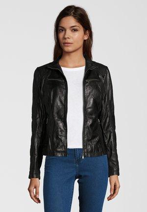 JEAN - Leather jacket - black