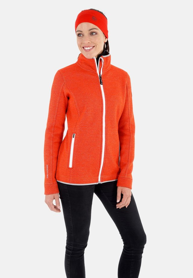 veste en sweat zippée - neonorange