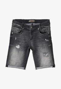 Blue Effect - BOYS - Denim shorts - black medium - 4