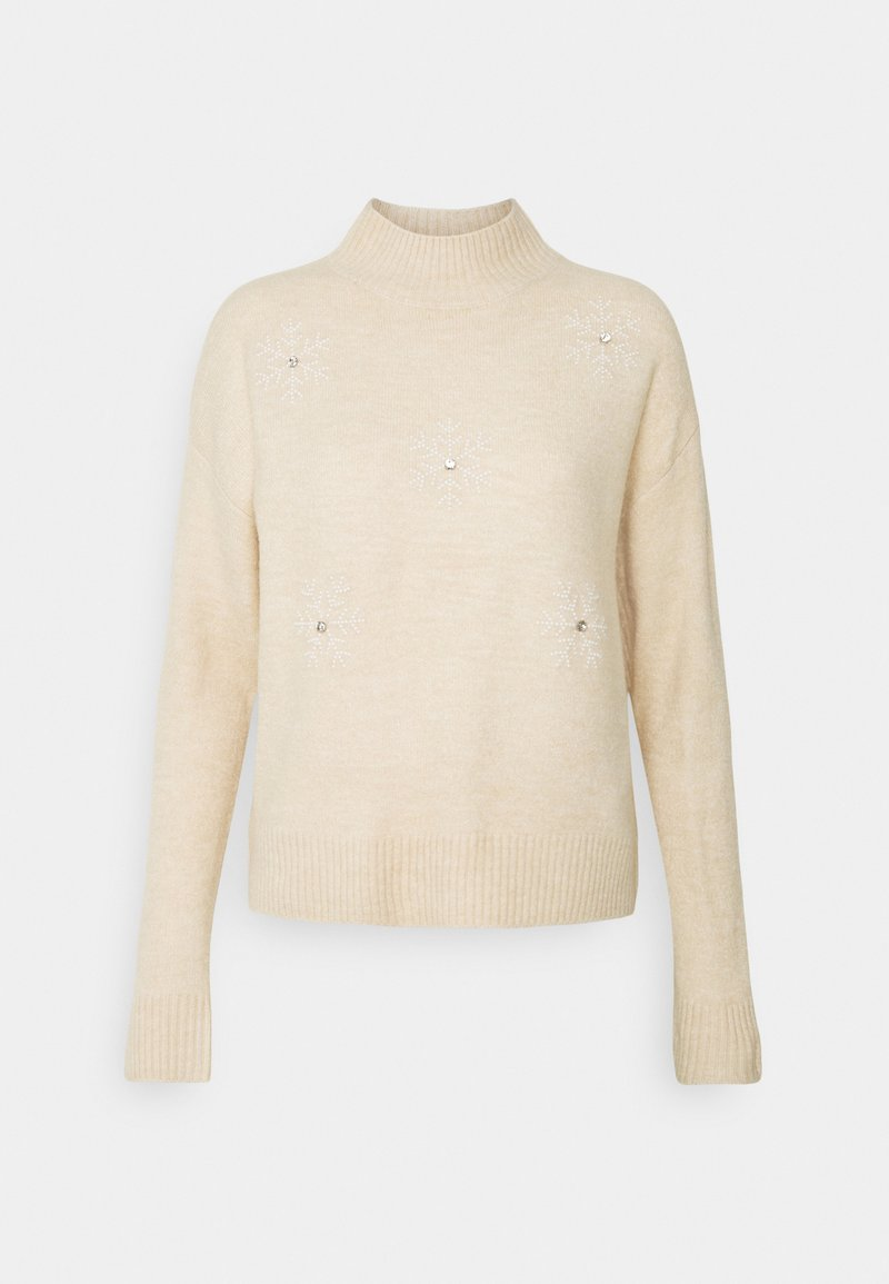 New Look - CHRISTMAS SNOWFLAKE JUMPER - Maglione - oatmeal