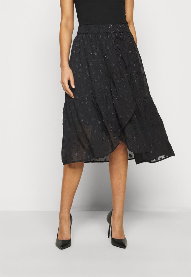 PCPERSILLA MIDI SKIRT - A-Linien-Rock - black