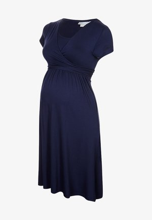 MATERNITY & NURSING WRAP DRESS - Jersey dress - midnight blue