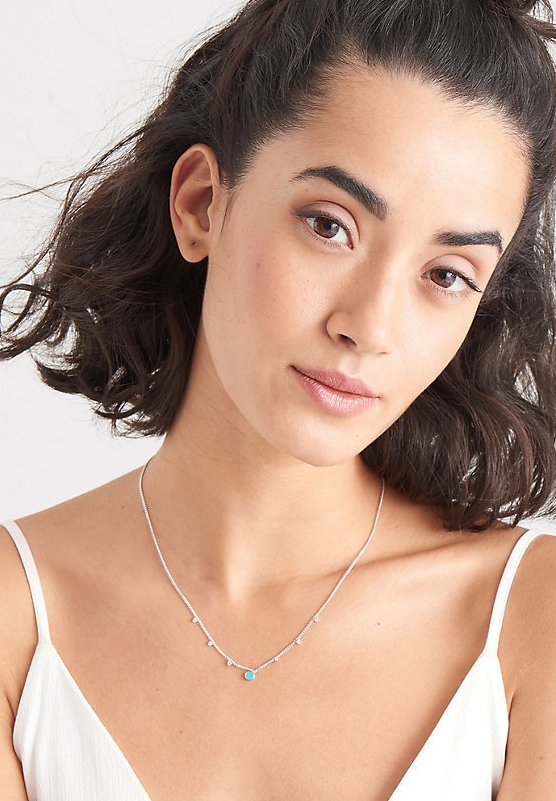 Ania Haie - DROIP DISK  - Necklace - silber
