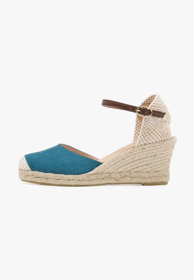 MEDIA ESPARTO ULTRASUEDE - Platform sandals - azul