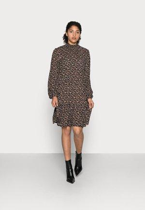 SALLY AMBER DRESS - Day dress - black/brown/ bedo petit
