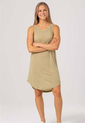 Jersey dress - olivgrün