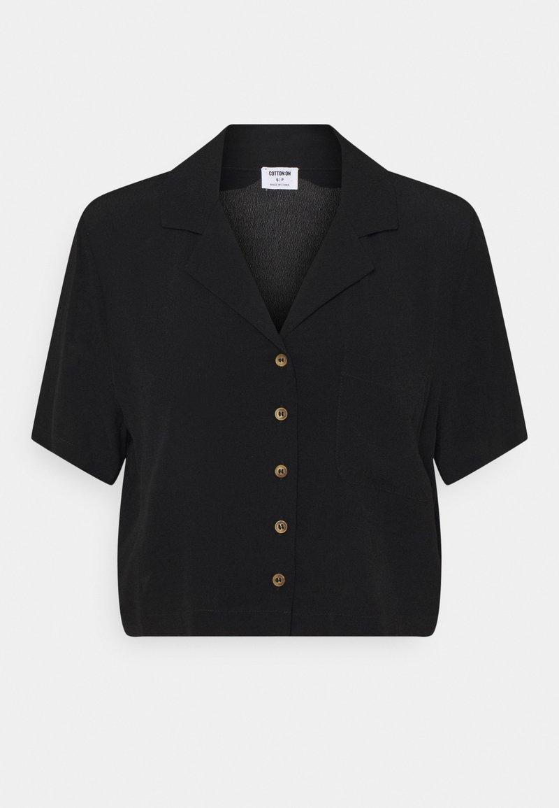 Cotton On - CROPPED SUMMER - Print T-shirt - black