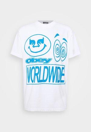 ACID CRASH - Print T-shirt - white