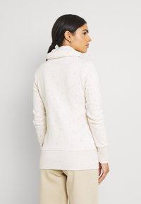 Ragwear - RYLIE MARINA ZIP - Zip-up sweatshirt - beige - 2