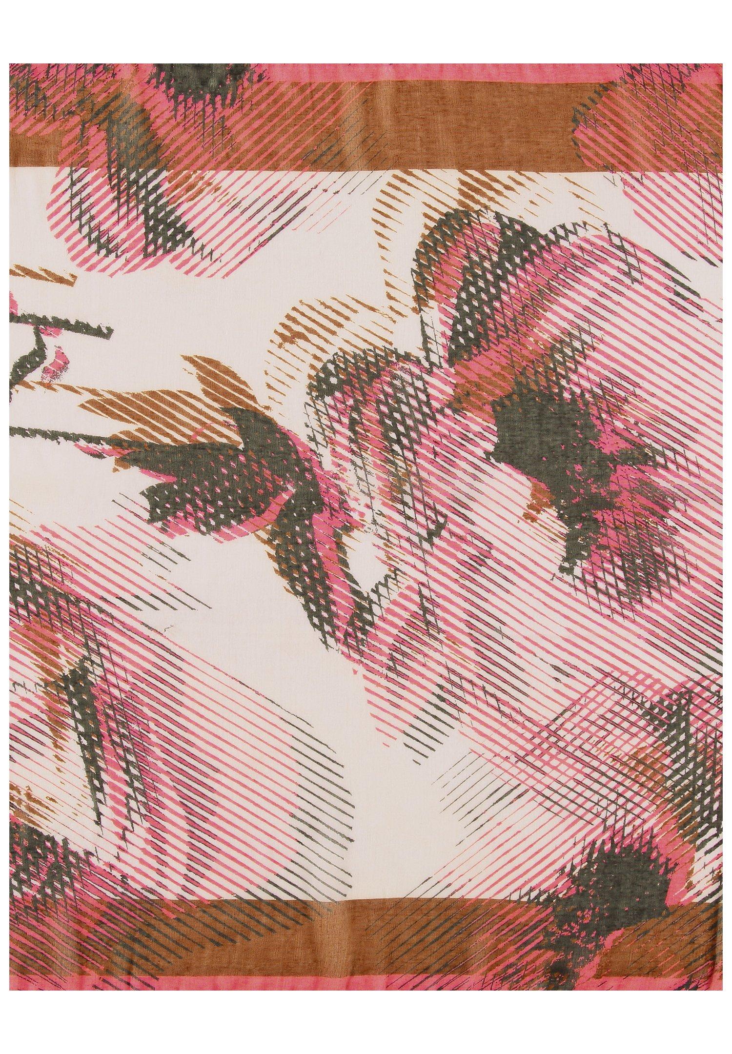 Gerry Weber Mit Rosenmuster - Schal Braun/lila/pink Druck/braun