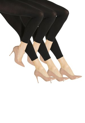 3 PACK - Leggings - Stockings - schwarz