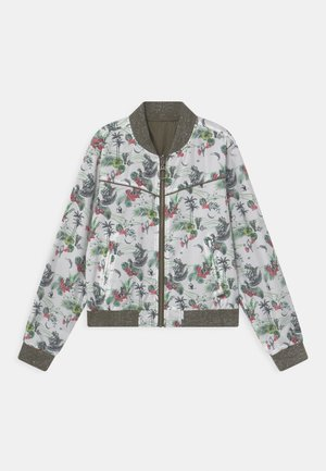 PALM PRINT REVERSIBLE  - Bomber Jacket - kaki