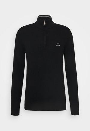 HALF ZIP - Stickad tröja - black