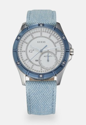 Watch - silver-coloured/ blue denim