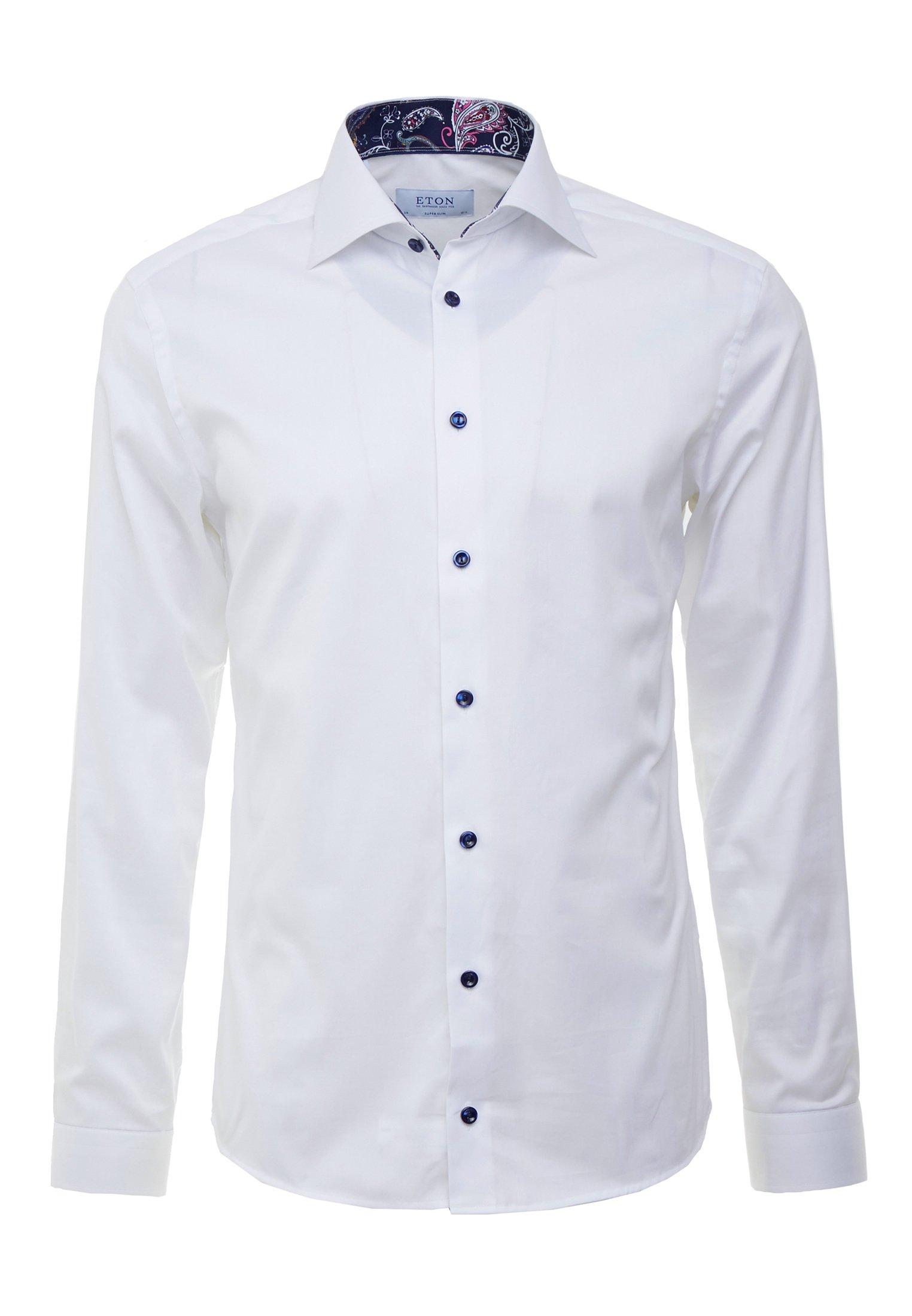 Eton SUPER SLIM FIT Finskjorte white Zalando.no