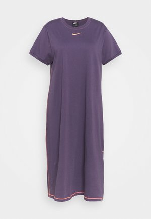 Jersey dress - dark raisin
