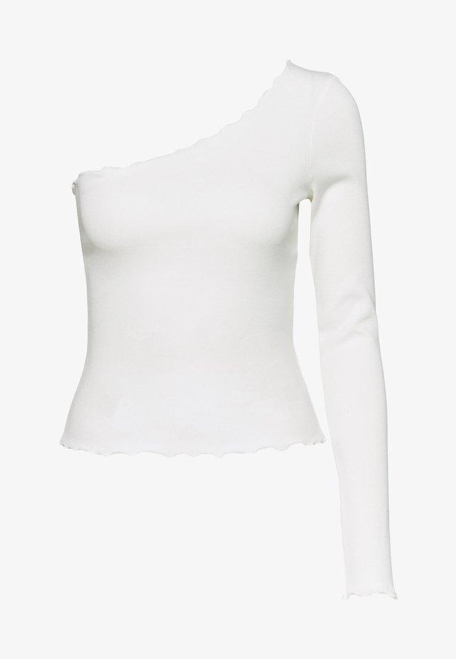 ONE SHOULDER BABY LOCK - Langarmshirt - white