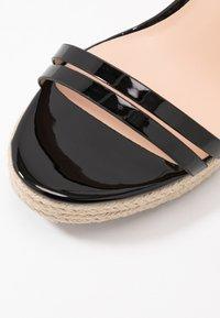 Even&Odd Wide Fit - Korolliset sandaalit - black - 5