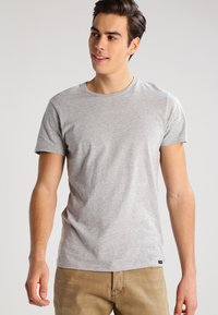 Lee - 2 PACK - T-shirt basic - blue/mottled grey - 4