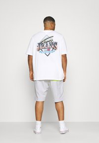 Tommy Jeans Plus - COLORBLOCK  - Shorts - silver grey heather/faded lime - 2